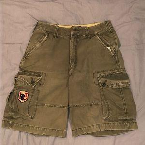 American Eagle olive cargo shorts